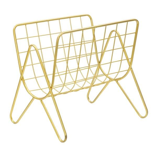 Kovový stojan na časopisy ve zlaté barvě Mauro Ferretti Cedazo