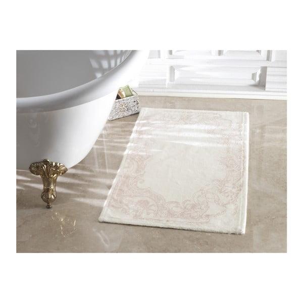 Jasnoróżowy dywanik łazienkowy Madame Coco Lucy Ecru Powder, 70x120 cm