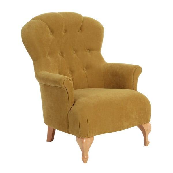 Żółty fotel Max Winzer Camilla Velor