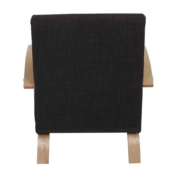 Křeslo Lyss, tmavě hnědý textilní potah