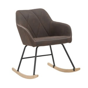Hnědá houpací židle Mauro Ferretti Underground
