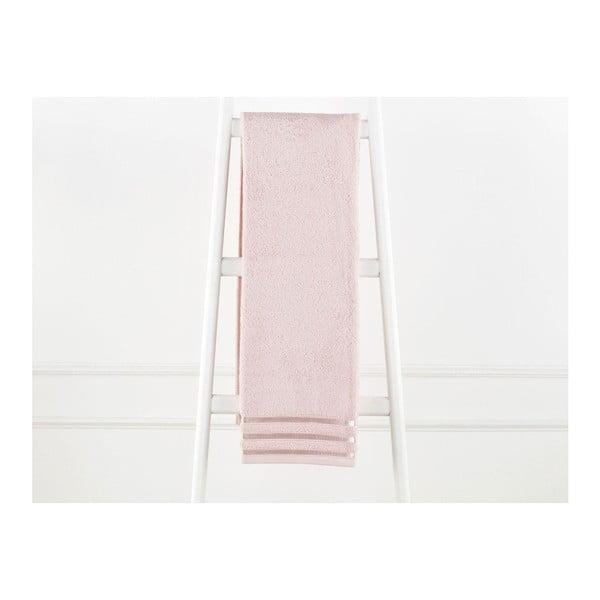 Pudrově růžový bavlněný ručník Emily, 70 x 140 cm