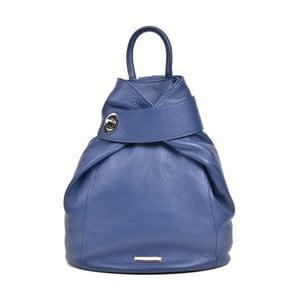 Modrý kožený batoh Anna Luchini Makna