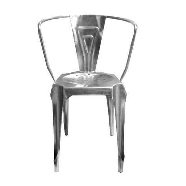Kovová židle Antic Line Fauteuil, stířbrná