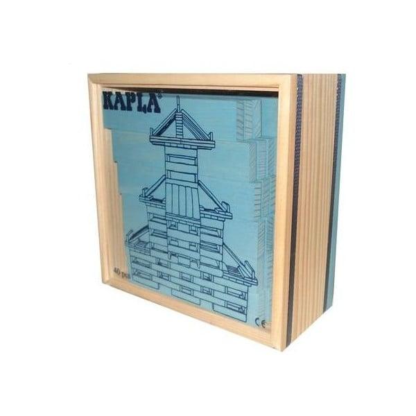 Dřevěná stavebnice Kapla, světle modrá