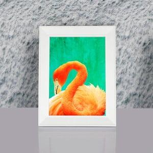 Zarámovaný obraz Dekorjinal Pouff Painted Flamingo, 23x17cm