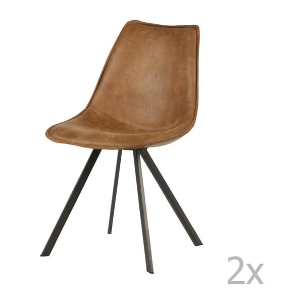 Sada 2 hnědých židlí De Eekhoorn Swen