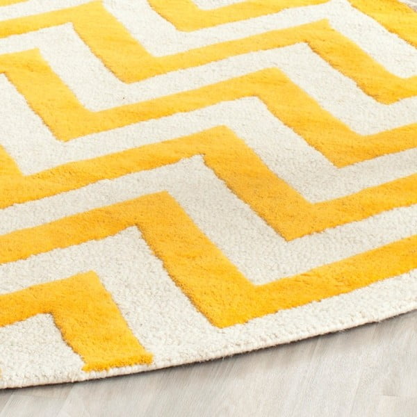 Vlněný koberec Safavieh Stella, 152x243 cm, žlutý