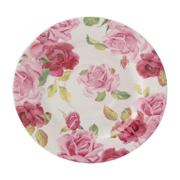 Růžový hrnek s podšálkem s květinovým motivem Creative Tops, 250 ml
