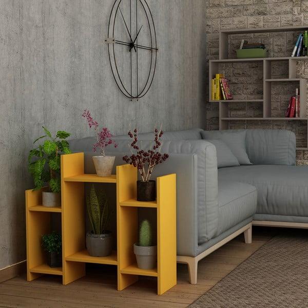 Hořčicově žlutý odkládací stolek Homitis Potti