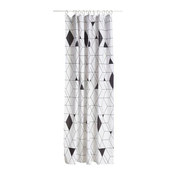 Černo-bílý sprchový závěs Zone Harlequin