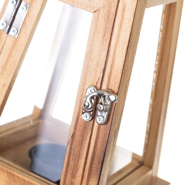 Dřevěná lucerna Unimasa Garden Party, 14 x 25 cm