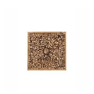 Nástěnná dekorace z recyklovaného teakového dřeva WOOX LIVING Queendom, 70x70cm