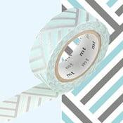 Stříbrno-modrá washi páska MT Masking Tape Izumi