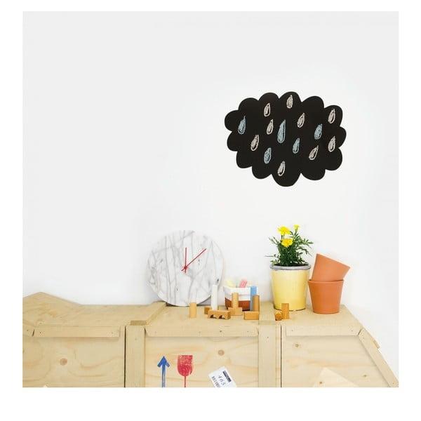 Černá nástěnná popisovatelná samolepka Chalk Cloud