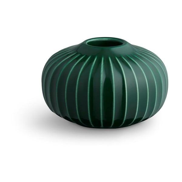 Zelený porcelánový svícen Kähler Design Hammershoi, ⌀ 8 cm