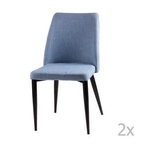 Sada 2 světle modrých jídelních židlí sømcasa Melissa