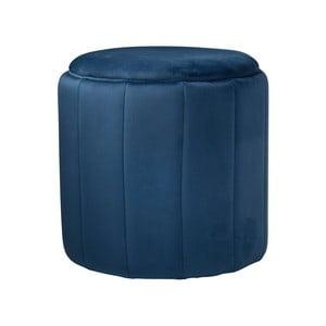 Modrá čalouněná stolička Native Mystique, ⌀ 43 cm