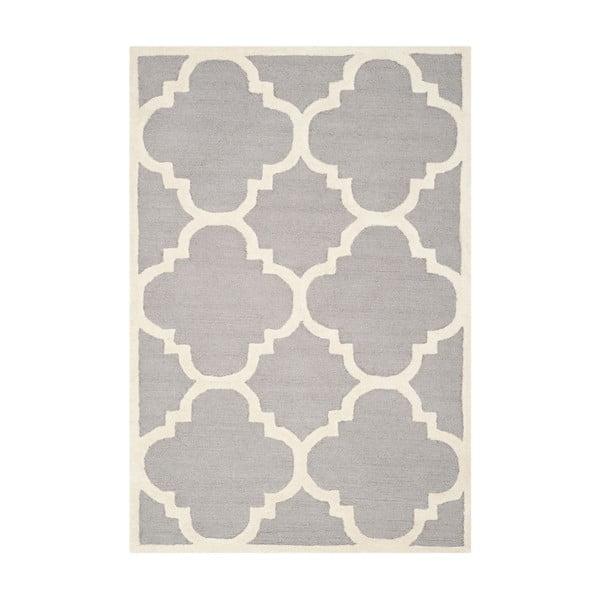Vlněný koberec Clark Grey, 91x152 cm