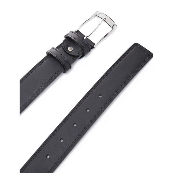 Kožený pásek Elegant Black, 120 cm