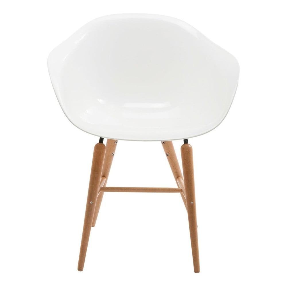 Sada 4 bílých židlí s nohami z bukového dřeva Kare Design Forum