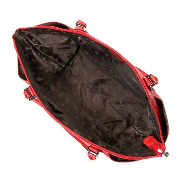 Kožená kabelka Comfort Long Red