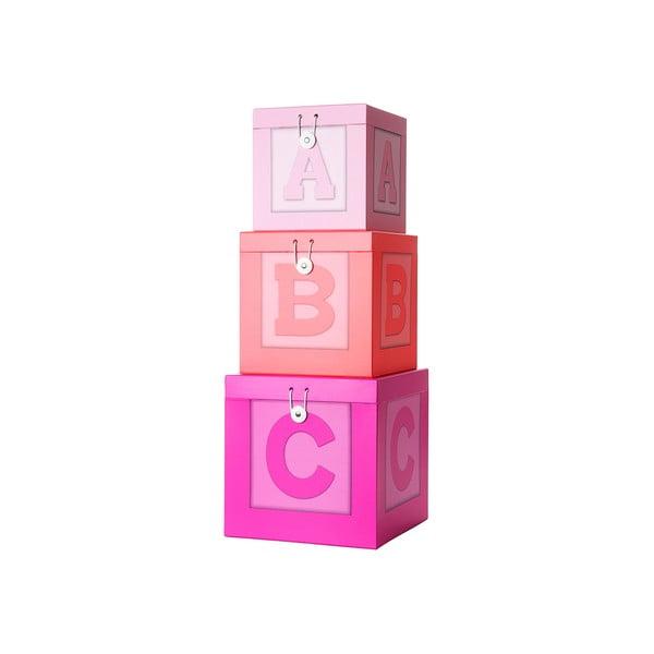 Úložné boxy, růžové