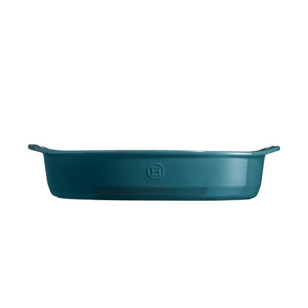 Vas oval de copt Emile Henry, 3,8 l, albastru închis