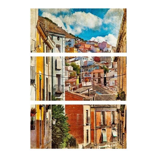 3dílný obraz Život ulice
