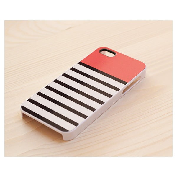 Obal na iPhone 5, Coral Top in White