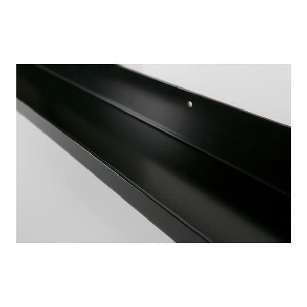 Černá nástěnná police na fotografie De Eekhoorn Ravi, délka120cm