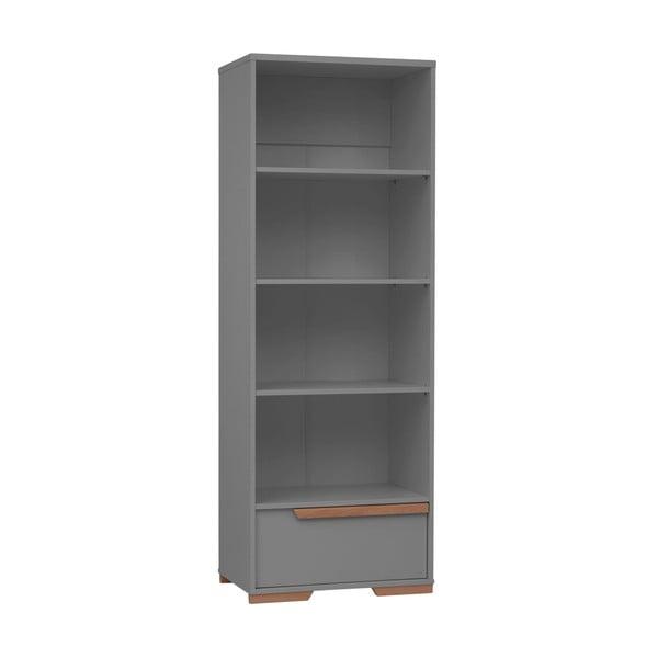 Tmavě šedá dětská knihovna Pinio Snap, výška 195 cm