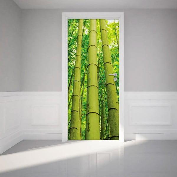 Adhezivní samolepka na dveře Ambiance Bamboo