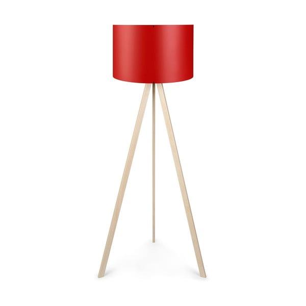 Lampadar cu abajur roșu Polly