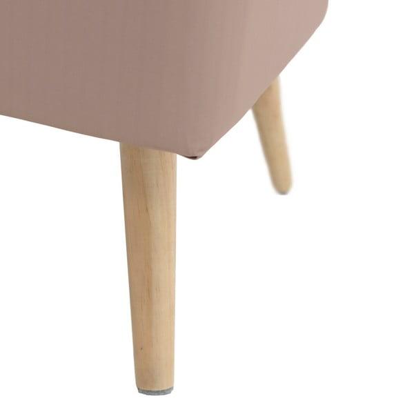 Béžová stolička/podnožka InArt Boho Iniga