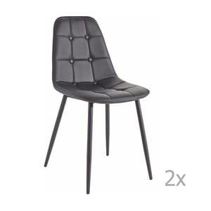Sada 2 černých  jídelních židlí 13Casa Dakota
