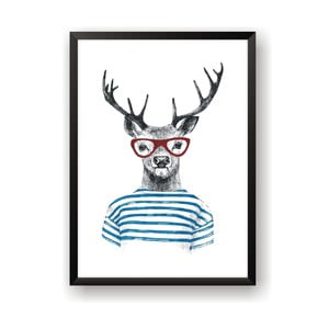 Plakát Nord & Co Deer With Glasses, 50 x 70 cm
