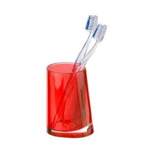Červený kelímek na zubní kartáčky Wenko Paradise Red