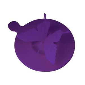 Silikonové víčko na hrnky Butterfly, fialové