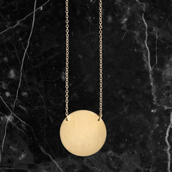 Náhrdelník Disk Gold z kolekce Geometry