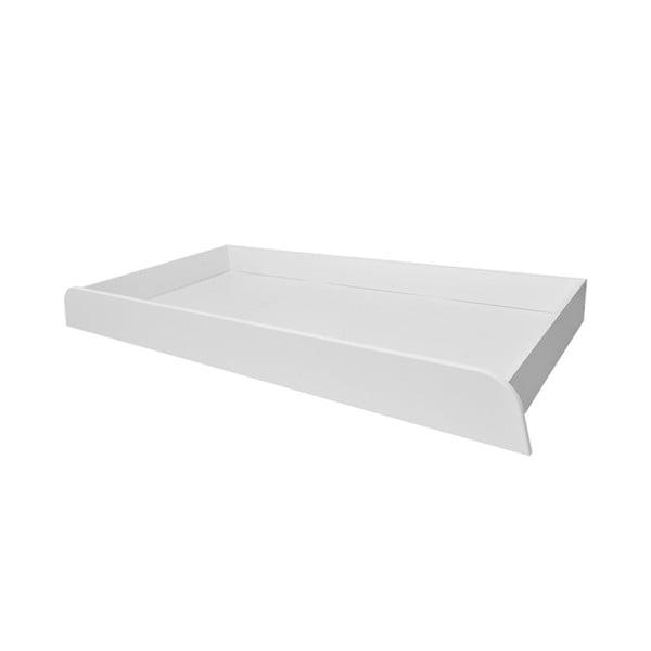 Raft de depozitare cu roți pentru pătuț copil BELLAMY UP, 70 x 120 cm, alb