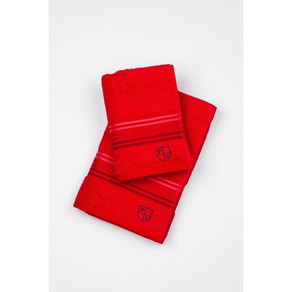 Sada 2 osušek U.S. Polo Assn. Red, 50x100 a 70x140 cm