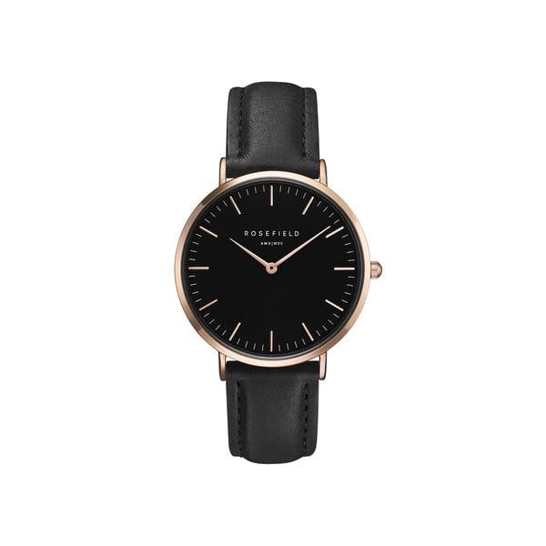 Černé dámské hodinky Rosefield The Bowery
