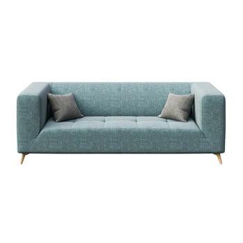 Canapea cu 3 locuri MESONICA Toro albastru deschis