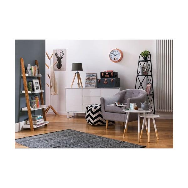 Odkládací stolek Viborg, 40 cm, bílý