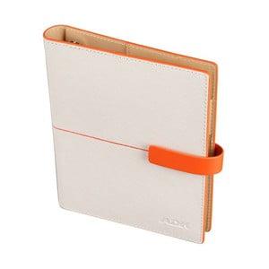 Diář ADK Linea 2015, A6, bílý/oranžový