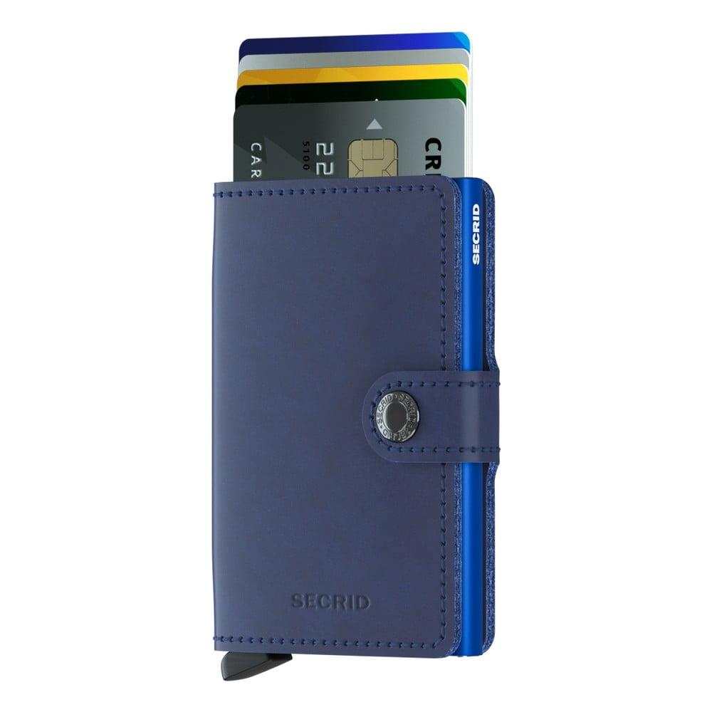 Modrá kožená peněženka s pouzdrem na karty Secrid Classic