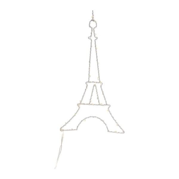Bílá nástěnná světelná LED dekorace Opjet Paris Paris, délka25cm