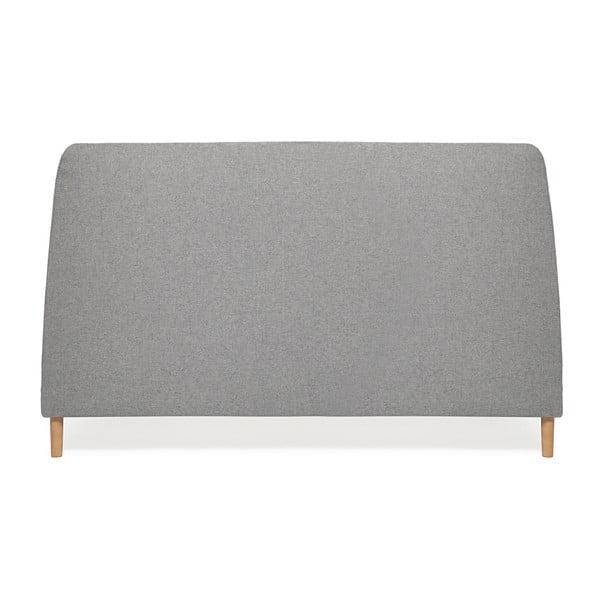 Šedá dvoulůžková postel s dřevěnými nohami Vivonita Mae King Size, 180 x 200 cm