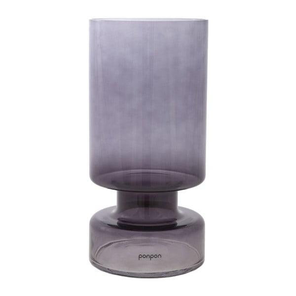 Váza/svícen Delhi 31 cm, šedá